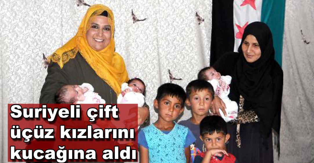 Suriyeli ailenin üç erkek çocuktan sonra üçüz kızları oldu