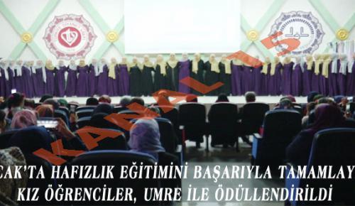 BUCAK'TA HAFIZLIK EĞİTİMİNİ BAŞARIYLA TAMAMLAYAN KIZ ÖĞRENCİLER, UMRE İLE ÖDÜLLENDİRİLDİ