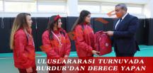 ULUSLARARASI TURNUVADA BURDUR'DAN DERECE YAPAN BOCCE SPORCULARI ÖDÜLLENDİRİLDİ