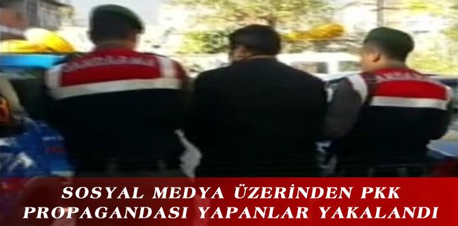 SOSYAL MEDYA ÜZERİNDEN PKK PROPAGANDASI YAPANLAR YAKALANDI