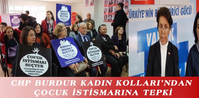 CHP BURDUR KADIN KOLLARI'NDAN ÇOCUK İSTİSMARINA TEPKİ