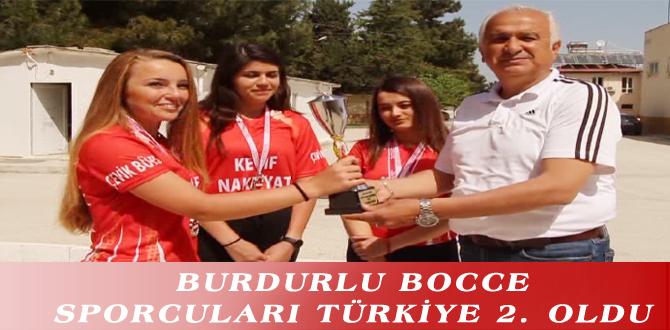 BURDURLU BOCCE SPORCULARI TÜRKİYE 2. OLDU