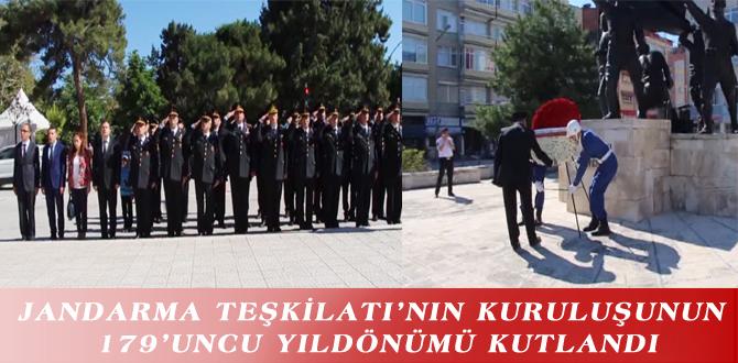 JANDARMA TEŞKİLATI'NIN KURULUŞUNUN 179'UNCU YILDÖNÜMÜ KUTLANDI