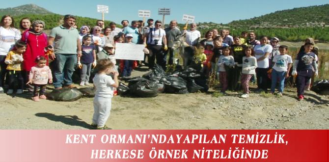 KENT ORMANI'NDAYAPILAN TEMİZLİK, HERKESE ÖRNEK NİTELİĞİNDE