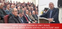 """GENEL BAŞKAN YARDIMCISI ÜMİT ÖZDAĞ, """"TÜRKİYE'DE EN BÜYÜK SORUN SURİYELİ MÜLTECİLER"""" DEDİ"""