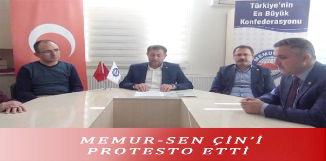 MEMUR-SEN ÇİN'İ PROTESTO ETTİ