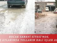 BUCAK SANAYİ SİTESİ'NDE, KIŞ AYLARINDA YOLLARIN HALİ İÇLER ACISI