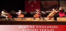 MAKÜ'DE VİYOLONSEL KONSERİ VERİLDİ