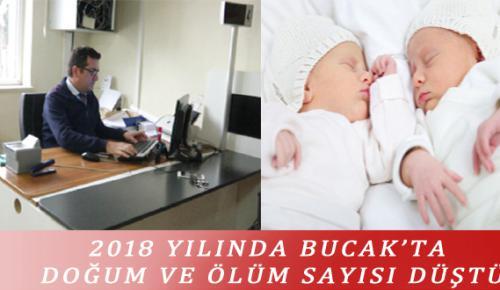 2018 YILINDA BUCAK'TA DOĞUM VE ÖLÜM SAYISI DÜŞTÜ