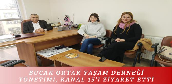 BUCAK ORTAK YAŞAM DERNEĞİ YÖNETİMİ, KANAL 15'İ ZİYARET ETTİ