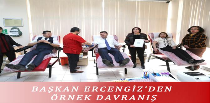 BAŞKAN ERCENGİZ'DEN ÖRNEK DAVRANIŞ