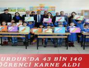 BURDUR'DA 43 BİN 140 ÖĞRENCİ KARNE ALDI