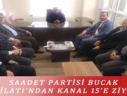 SAADET PARTİSİ BUCAK TEŞKİLATI'NDAN KANAL 15'E ZİYARET