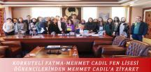 KORKUTELİ FATMA-MEHMET CADIL FEN LİSESİ ÖĞRENCİLERİNDEN MEHMET CADIL'A ZİYARET