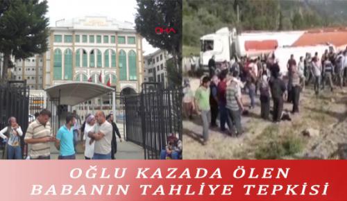 OĞLU KAZADA ÖLEN BABANIN TAHLİYE TEPKİSİ