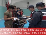 KÜTAHYA'YA GETİRİLEN 35 KAÇAK GÖÇMEN, SINIR DIŞI EDİLECEK