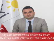 BAŞKAN SÖNMEZ'DEN OĞUZHAN KENT ORMANI'NA SAHİP ÇIKILMASI YÖNÜNDE ÇAĞRI