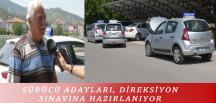 SÜRÜCÜ ADAYLARI, DİREKSİYON SINAVINA HAZIRLANIYOR