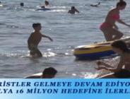 TURİSTLER GELMEYE DEVAM EDİYOR, ANTALYA 16 MİLYON HEDEFİNE İLERLİYOR