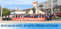 MUHTARLAR GÜNÜ, BUCAK'TA TÖRENLE KUTLANDI