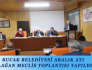 BUCAK BELEDİYESİ ARALIK AYI OLAĞAN MECLİS TOPLANTISI YAPILDI