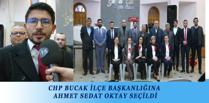 CHP BUCAK İLÇE BAŞKANLIĞINA AHMET SEDAT OKTAY SEÇİLDİ