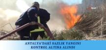 ANTALYA'DAKİ SAZLIK YANGINI KONTROL ALTINA ALINDI