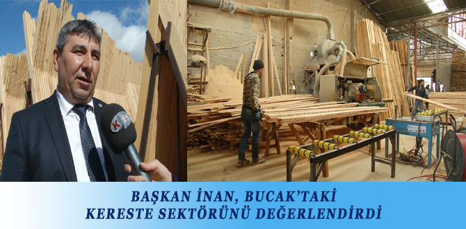 BAŞKAN İNAN, BUCAK'TAKİ KERESTE SEKTÖRÜNÜ DEĞERLENDİRDİ