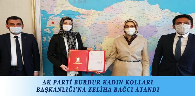 AK PARTİ BURDUR KADIN KOLLARI BAŞKANLIĞI'NA ZELİHA BAĞCI ATANDI