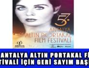 57. ANTALYA ALTIN PORTAKAL FİLM FESTİVALİ İÇİN GERİ SAYIM BAŞLADI
