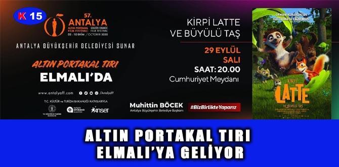 ALTIN PORTAKAL TIRI ELMALI'YA GELİYOR