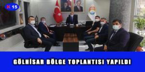 GÖLHİSAR BÖLGE TOPLANTISI YAPILDI