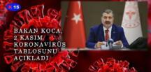 BAKAN KOCA, 2 KASIM TARİHLİ KORONA TABLOSUNU AÇIKLADI