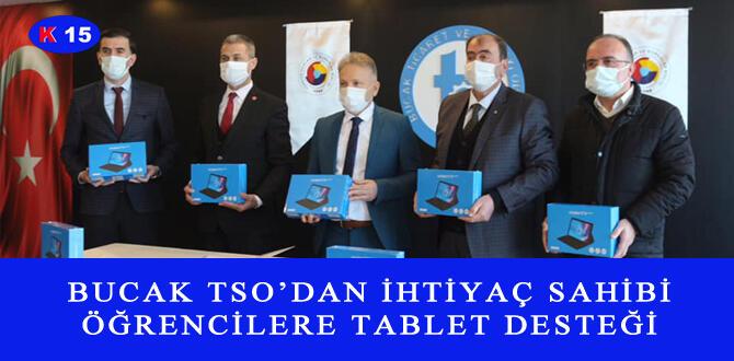 BUCAK TSO'DAN İHTİYAÇ SAHİBİ ÖĞRENCİLERE TABLET DESTEĞİ