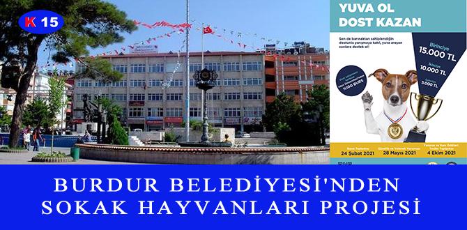 BURDUR BELEDİYESİ'NDEN SOKAK HAYVANLARI PROJESİ