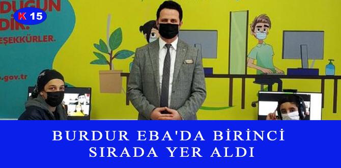 BURDUR EBA'DA BİRİNCİ SIRADA YER ALDI