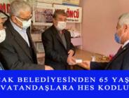 BUCAK BELEDİYESİNDEN 65 YAŞ VE ÜSTÜ VATANDAŞLARA HES KODLU KART