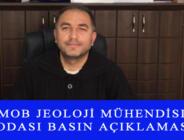 TMMOB JEOLOJİ MÜHENDİSLERİ ODASI BASIN AÇIKLAMASI