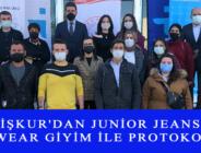İŞKUR'DAN JUNİOR JEANS WEAR GİYİM İLE PROTOKOL