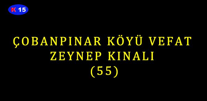 ÇOBANPINAR KÖYÜ VEFAT ZEYNEP KINALI (55)