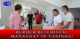 BURDUR BELEDİYESİ MANAVGAT'IN YANINDA!