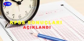 KPSS SONUÇLARI AÇIKLANDI