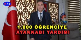 1.000 ÖĞRENCİYE AYAKKABI YARDIMI